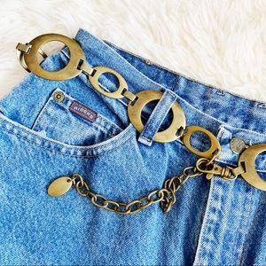 Brass 70s style belt